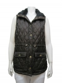 Vest, W/ Lining, Pockets & Fur, Snap Buttons, CASUAL # 436