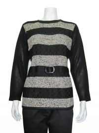 Sweater Printed W/ & Buckle, JENNY # 8507