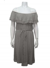Dress, Off Shoulder, W Lining, Lace & Front Tie,  GABRIEL # 44051
