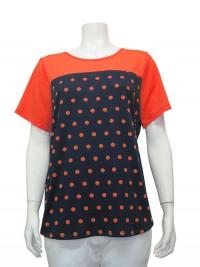 Blouse, Short Sleeve, Polka Dots, W/ Back Buttons, CAROLYN # 01092A