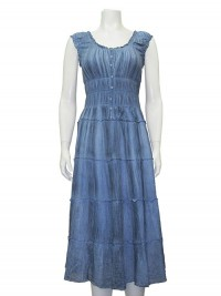 Dress, Cotton, W/ Elastic & Ruffles & lining, GABRIEL # 25005
