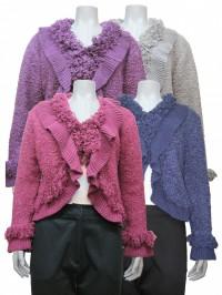 Sweater W/ Ruffels, Long Sleeve, JENNY # 7864