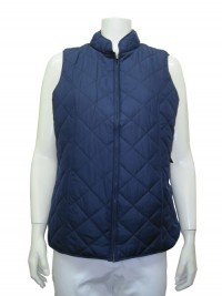 Vest W/ Lining, Side Pockets & Front Zipper, ERIKA # 1365