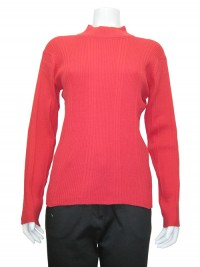 Sweater , Mock Neck, Ribbed, Cotton, JENNY # 8801
