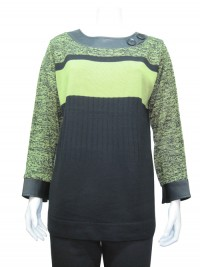 Sweater, Printed, Round Neck, JENNY # 8506