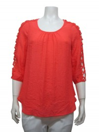 Blouse, 3/4 Sleeve, W/ Lace SleeveUNIQUE # 22680