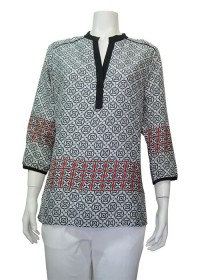 Blouse , Printed , 3/4 sleeve, ANTILIA # 9167