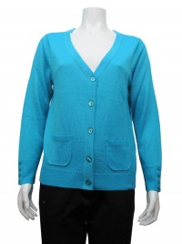 Sweater, Button Down, V-Neck, W/ Side Pockets, JENNY # 7100A