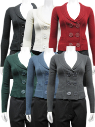 Womens sweater double breasted with buttons and pockets dh#9s163