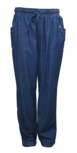 Pants, Jeans W/ Elastic Waist, Side Pockets & Draw String, EKA # 3689
