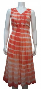 Dress, Sleeveless, Tie Die, W/ Elastic, Embroidery, GBL # 42021