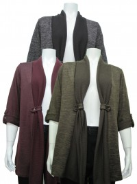 Sweater, Long, Cardigan Type, W/ Roll Up Sleeve, DH # MC201