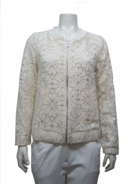 Jacket, W/ Front Zipper, Lace & Pockets, ALLY # 3541