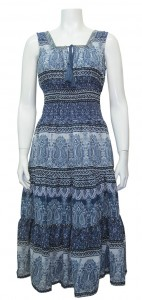 Dress Printed W/ Lining & Elastic Waist, GBL # 25001A