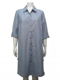 Dress 3/4 Roll Up Sleeve, Button Down W/ Side Pockets, GABRIEL # 67373