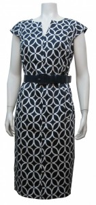 Dress, Cotton , Printed, Full Lining, W/ Siide Pockets & Belt, JFR # 5130S00